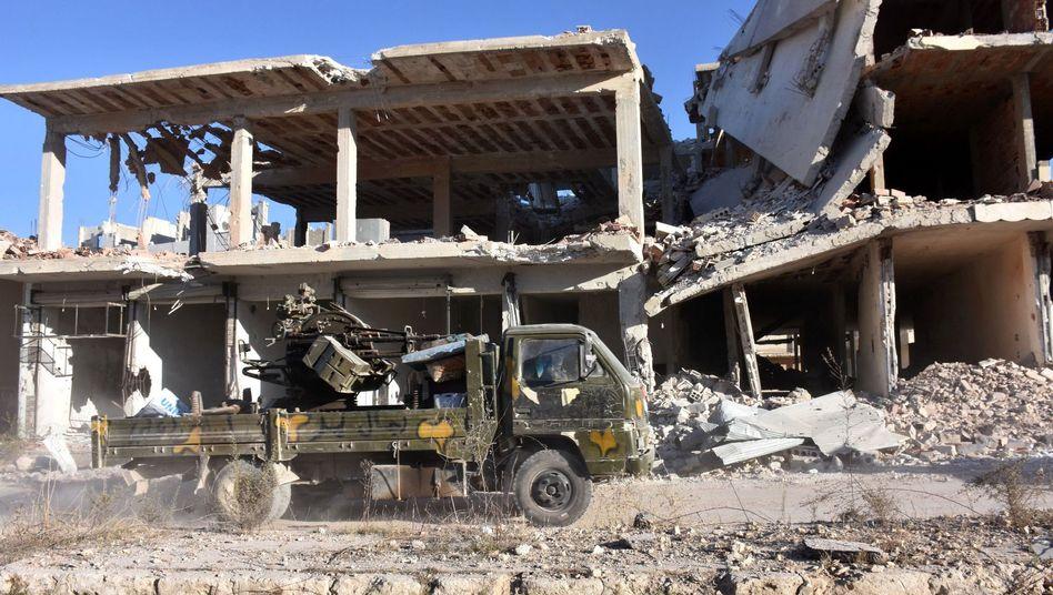 Regierungstruppen in Aleppos Stadtviertel Masaken Hanano