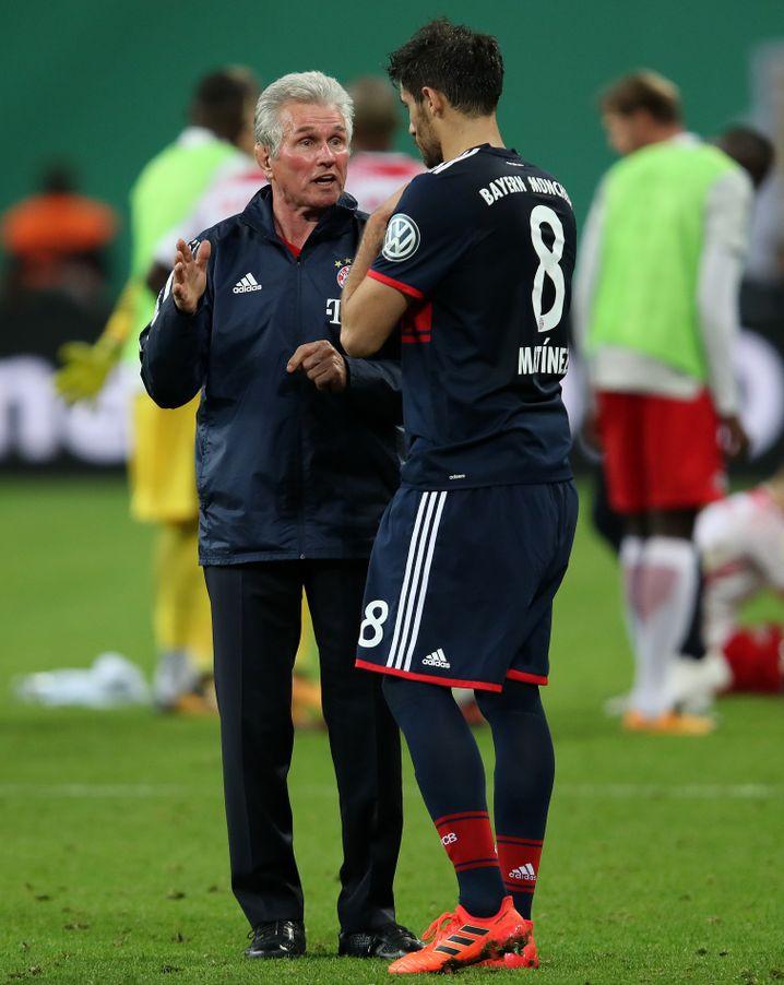 Jupp Heynckes (l.) mit Javier Martínez