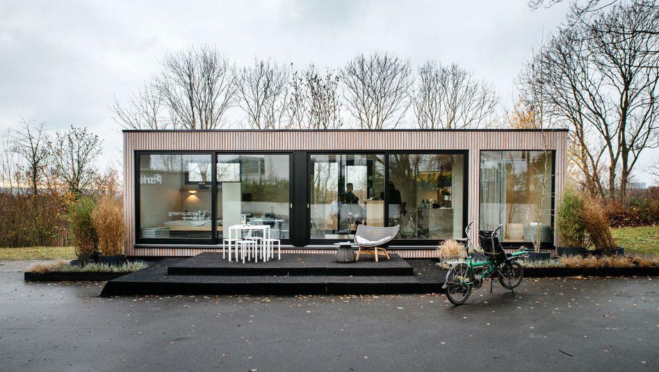 Mustergültig: Im Modellhaus von Franziska Böhmer kann sich jeder vorstellen, wie es wäre, seinen Besitzstand zu reduzieren und auf kleinerer Fläche zu leben.
