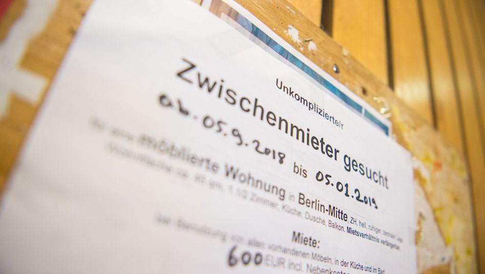 Zwischenmieter-Suche an der TU Berlin