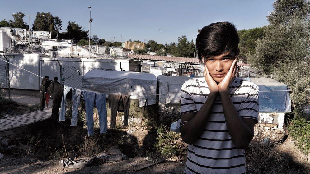 Flüchtlingsjunge Mohammad in Moria