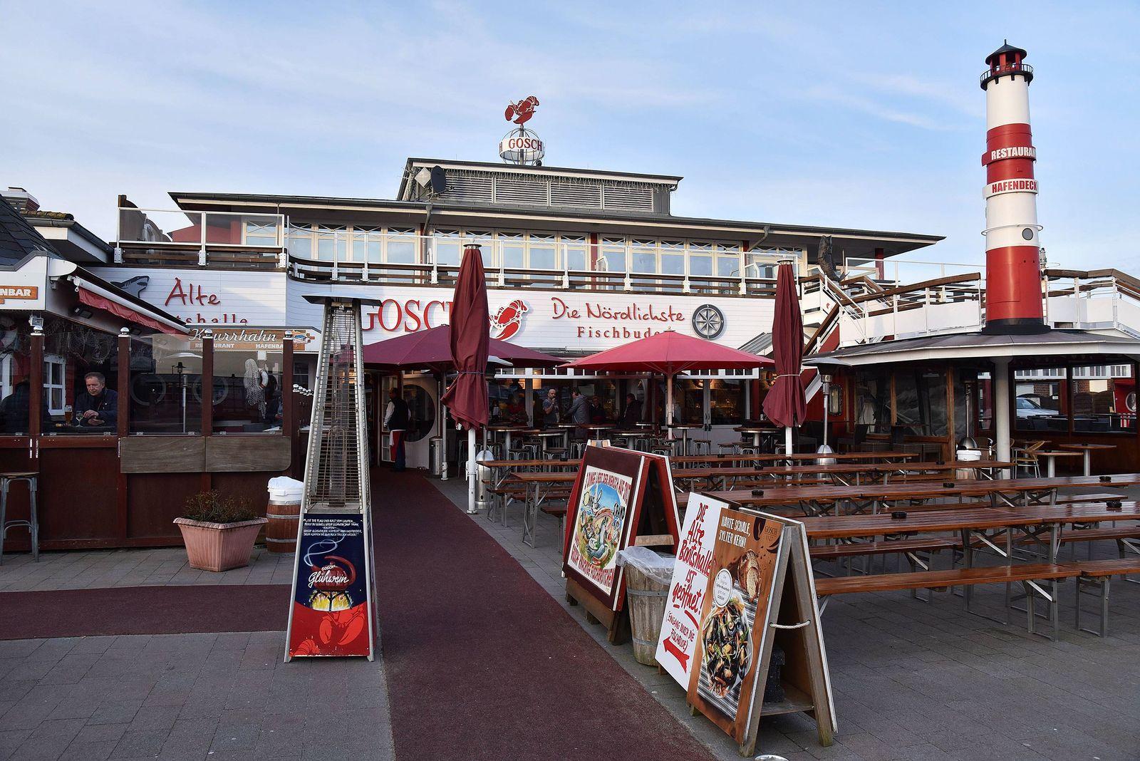 Das Fisch Restaurant GOSCH in List am Hafen Nˆrdlichste Fischbude Deutschlands aufgenommen am 31 0