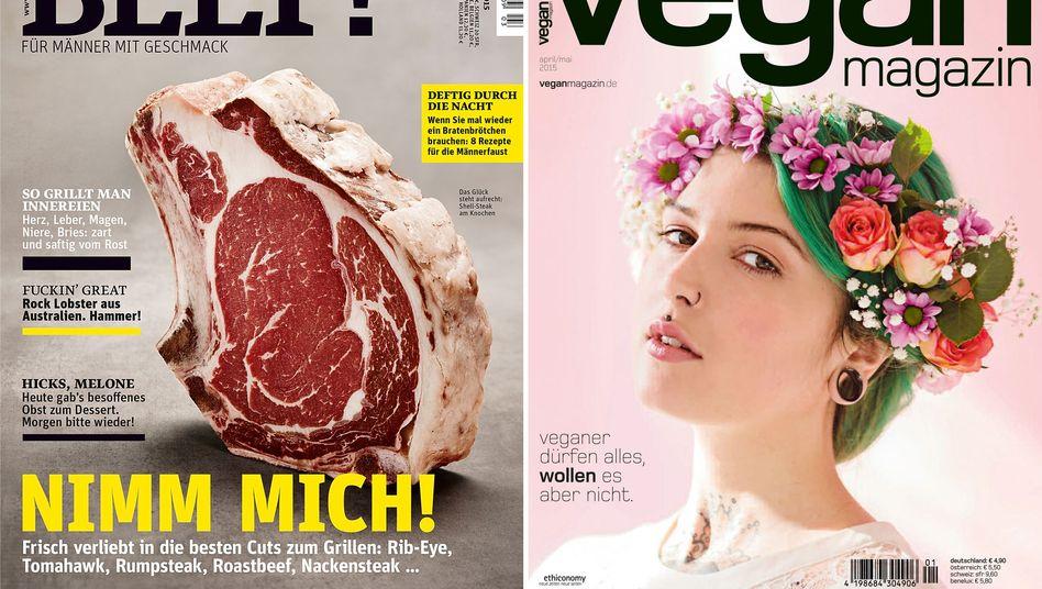 """Magazine """"Beef!"""" und """"Vegan Magazin"""": Tiere essen oder nicht?"""