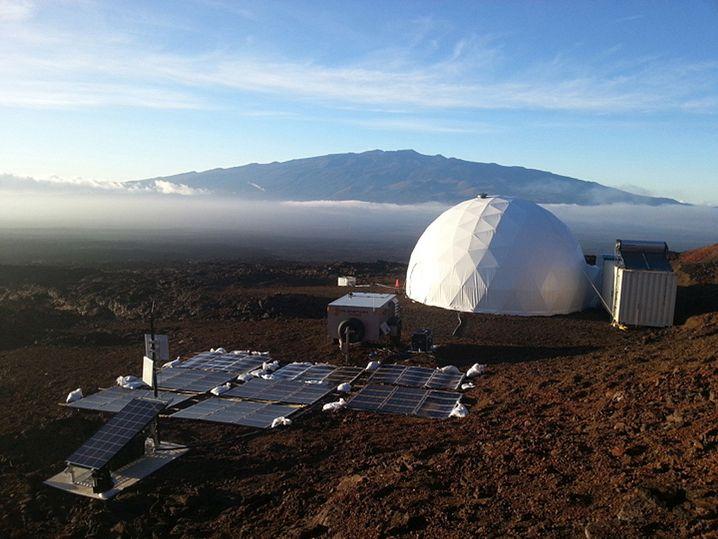 Fern von Strand und Palmen: In dieser nachgebildeten Raumstation auf Hawaii bilden Wissenschaftler ab Ende August für ein Jahr eine Wohngemeinschaft