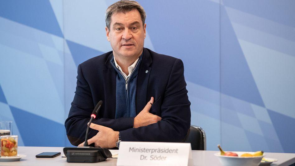 Bayerns Ministerpräsident Markus Söder: Bayern habe sich auf Anfrage aus Tschechien bereit erklärt, Intensivpatienten aufzunehmen