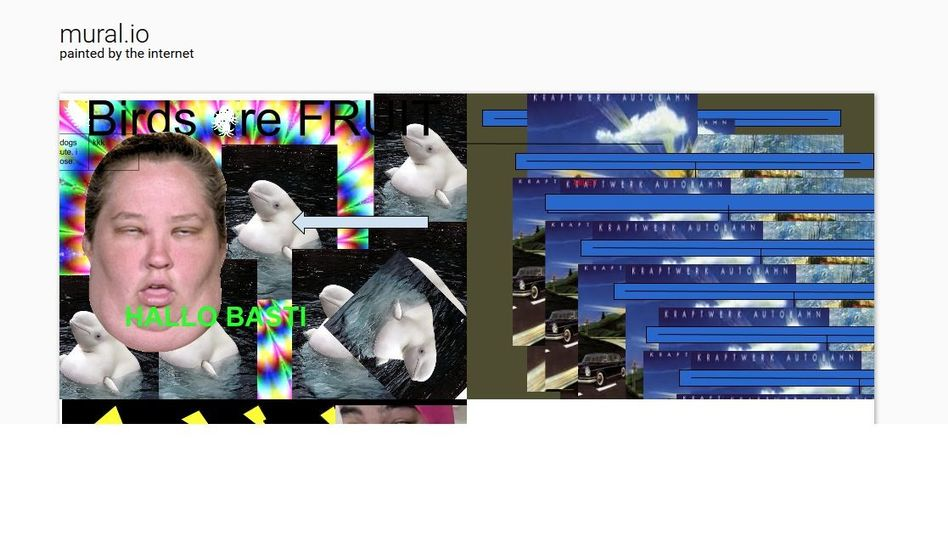 Screenshot der Website Mural.io: Skurrile, interaktive Kunst