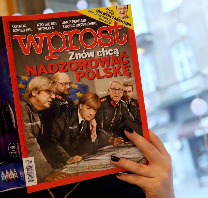 """Neueste Ausgabe der Zeitschrift """"Wprost"""": Immer mal wieder ein Nazi-Vergleich"""