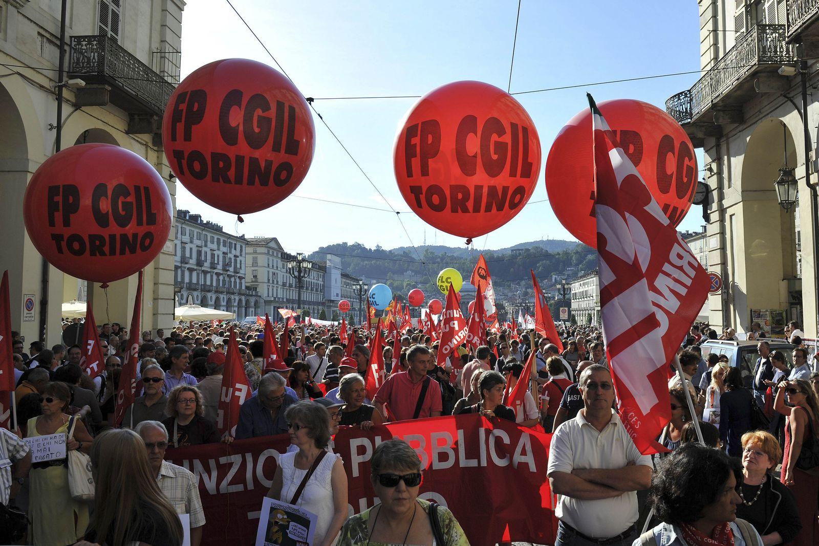 Italien/ Demonstrationen/ Streik