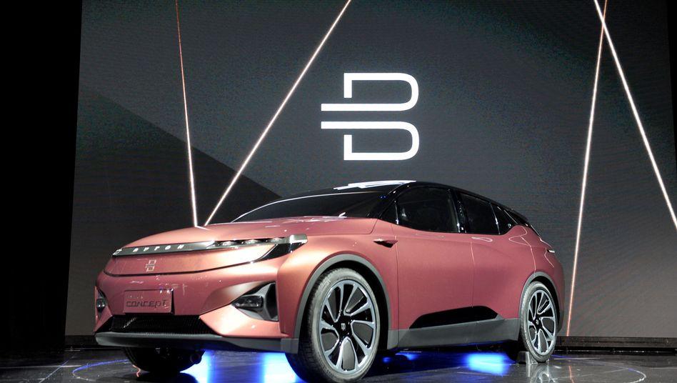 Ein SUV-Prototyp des Autobauers Byton auf der Technik-Messe CES in Las Vegas