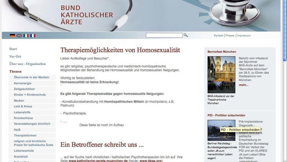 """BKÄ-Webseite (Screenshot): """"Die Angebote sind gefährlich"""""""
