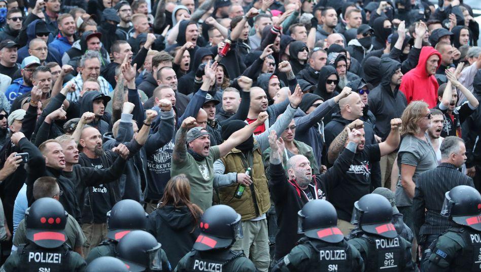 Kundgebung der rechten Szene in Chemnitz
