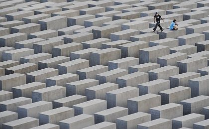The Holocaust Memorial in Berlin.