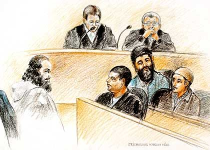 Gerichtszeichnung vom letzten Prozesstag