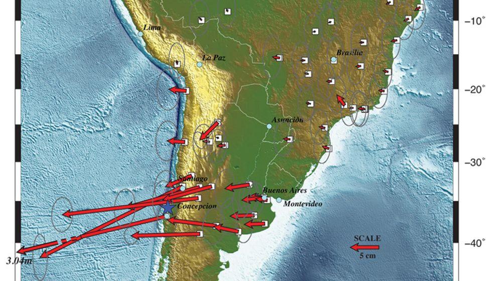 Bewegte Landmassen: Erdbeben verpasst Südamerika einen Drall nach Westen