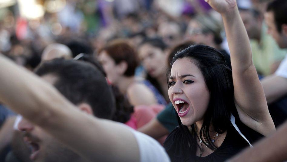 Demonstration in Istanbul: Junge Türken fordern mehr Demokratie und Freiheit für ihr Land