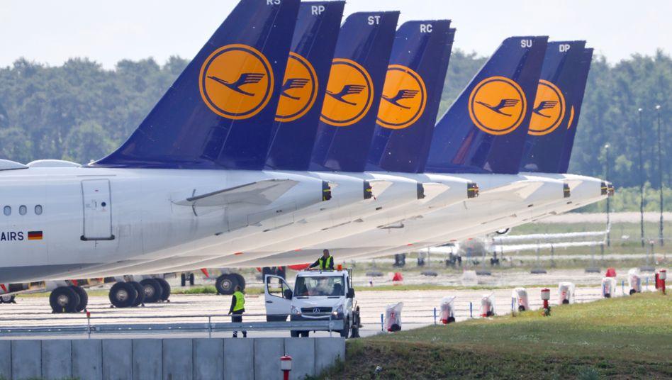 Lufthansa-Maschinen in Berlin