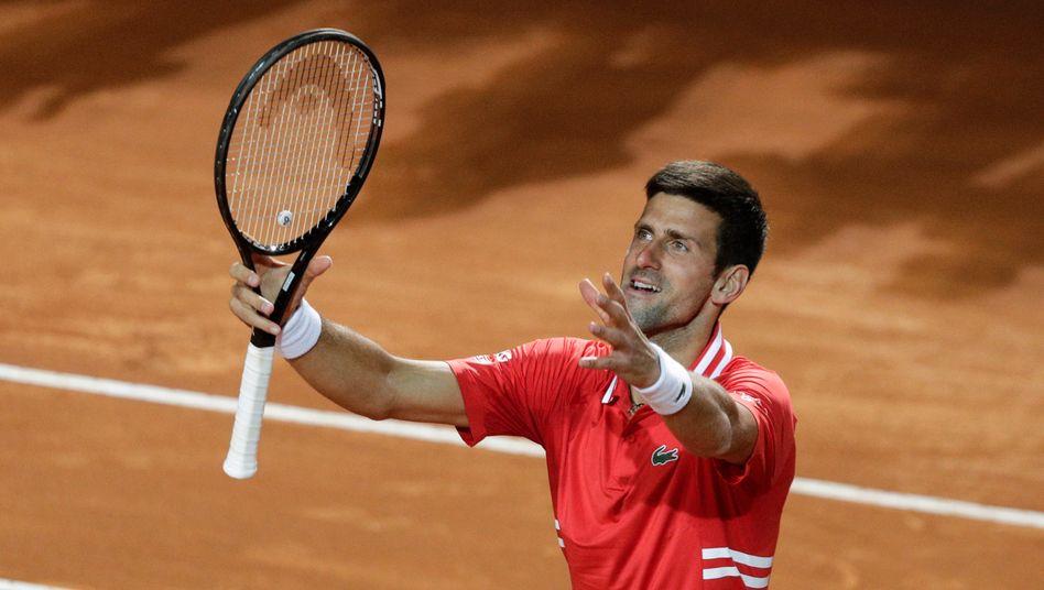 Doppelschicht für Novak Djokovic am Samstag in Rom
