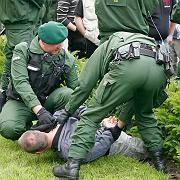 Lüneburg: Die Polizei hat die unangemeldete Demonstration aufgelöst