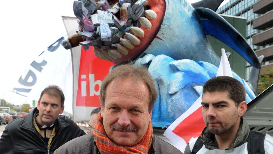 Frank Bsirske: Der Verdi-Chef am 22. Oktober bei einer Kundgebung in Frankfurt