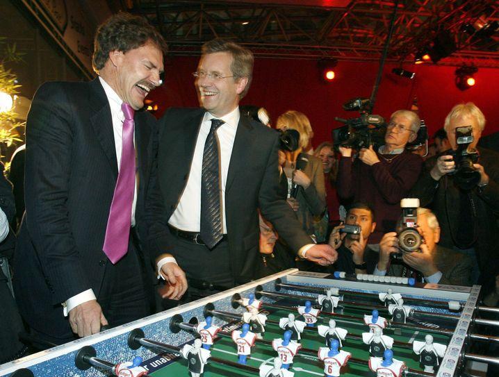 Mit dem damaligen Ministerpräsidenten Wulff 2007 in Hannover