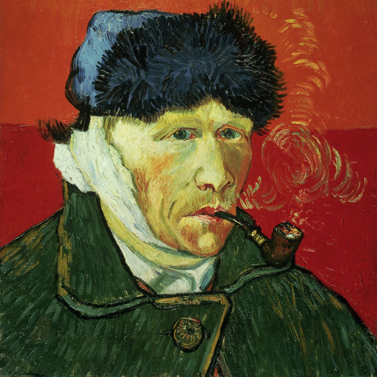 Ван Гог без уха. Этот автопортрет был создан художником во французском Арле после стычки с Гогеном и поспешным бегством последнего. Так как художник рисовал себя в зеркале, повязка у него была на самом деле справа. Ко всему прочему был отсечён только кусочек уха и скорее всего искусным фехтовальщиком Полем Гогеном, а не самим Ван Гогом.