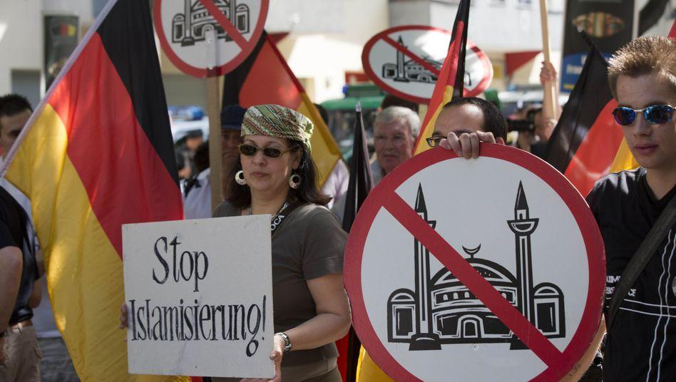 "Demonstrators protesting against ""Islamization"" in Berlin last month."