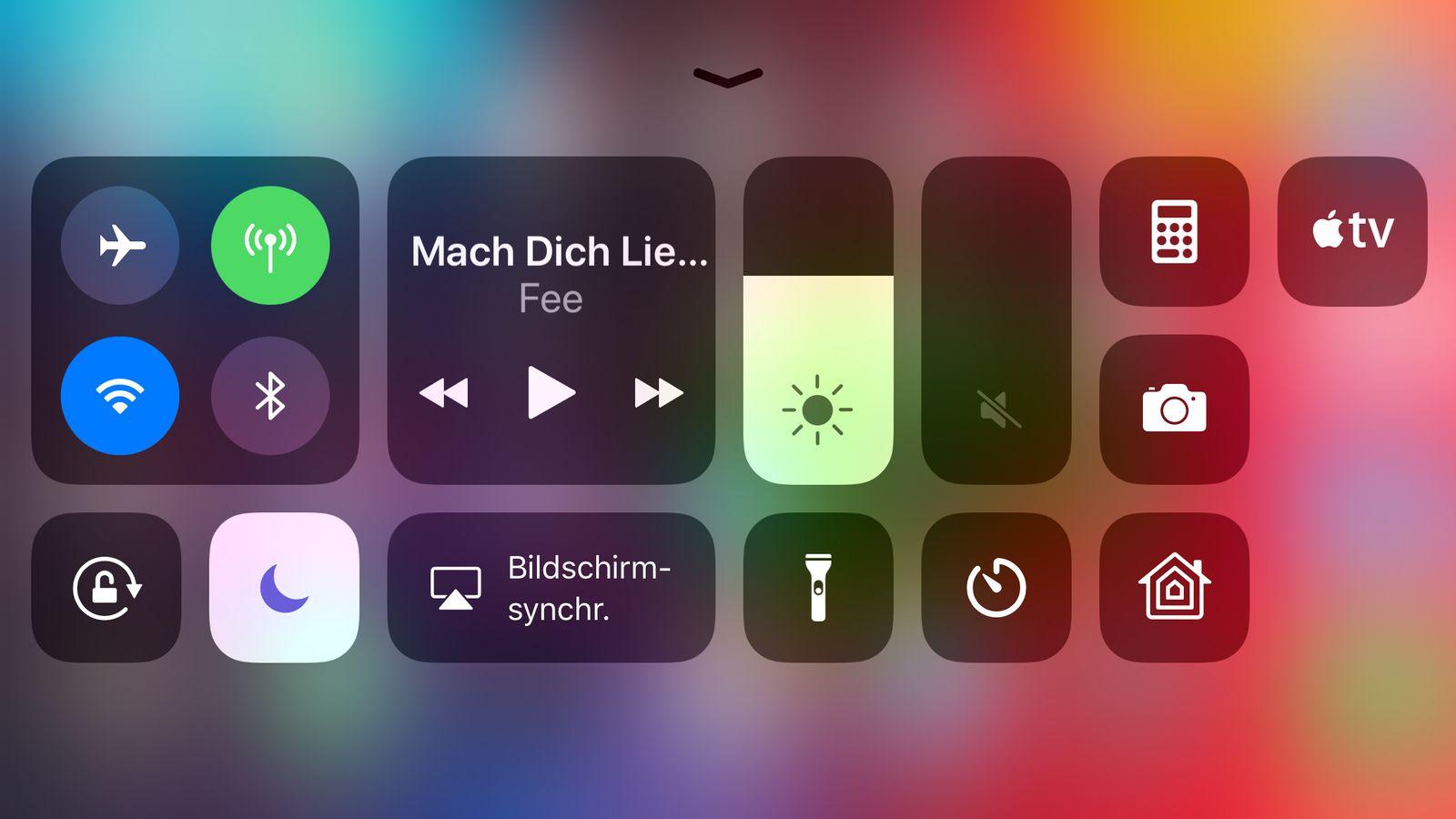 NUR ALS ZITAT Screenshot iOS 11 BluetoothÂ