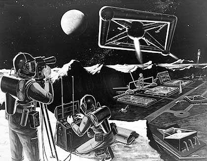 Mondstation (Nasa-Zeichnung von 1959): Militärische Pläne für den Trabanten