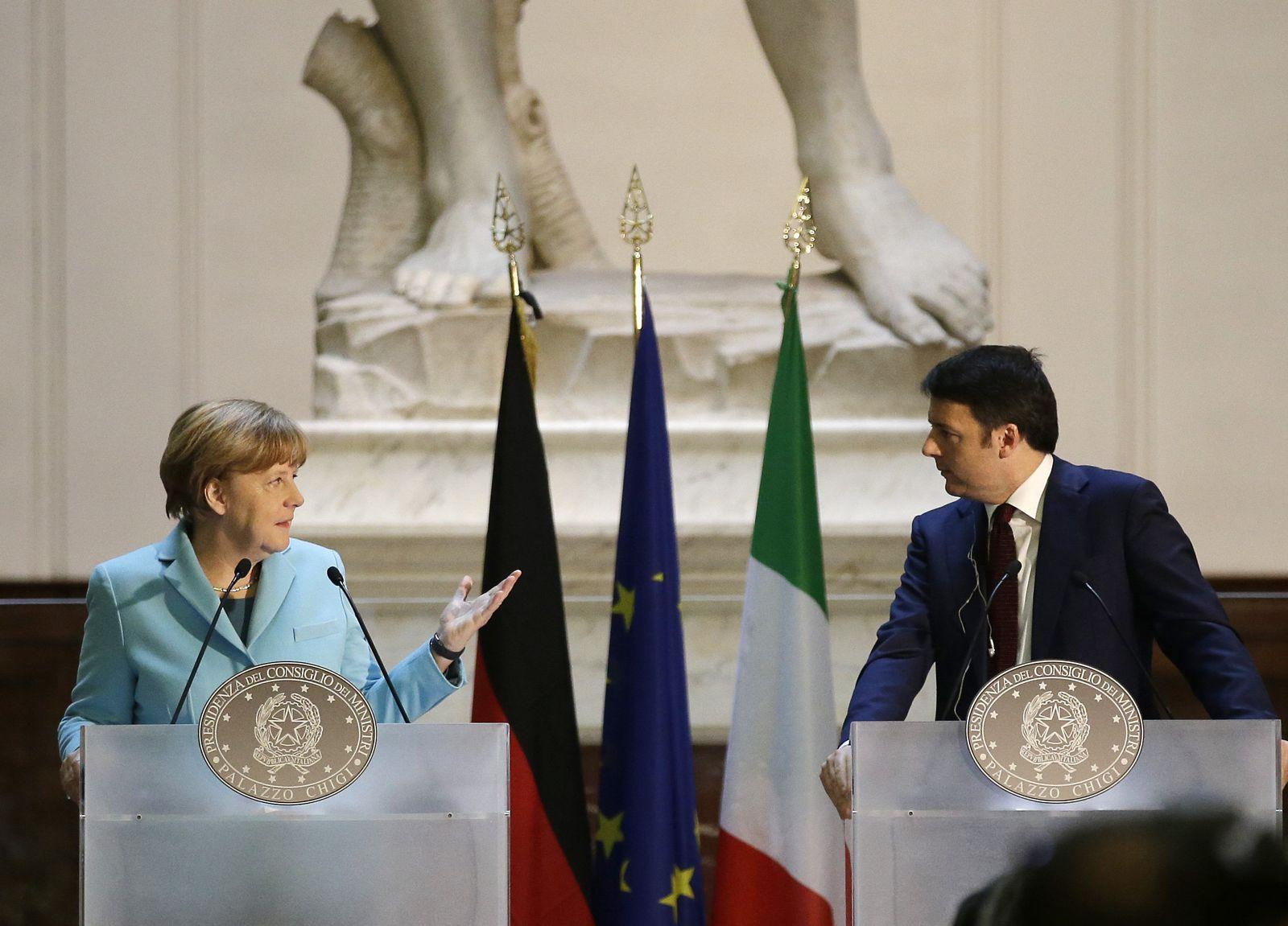 Angela Merkel, Matteo Renzi