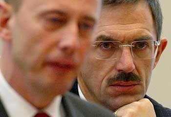 """Wolfgang Tiefensee (l.) und Klaus Steinbach: """"Eindeutig in der Defensive"""""""
