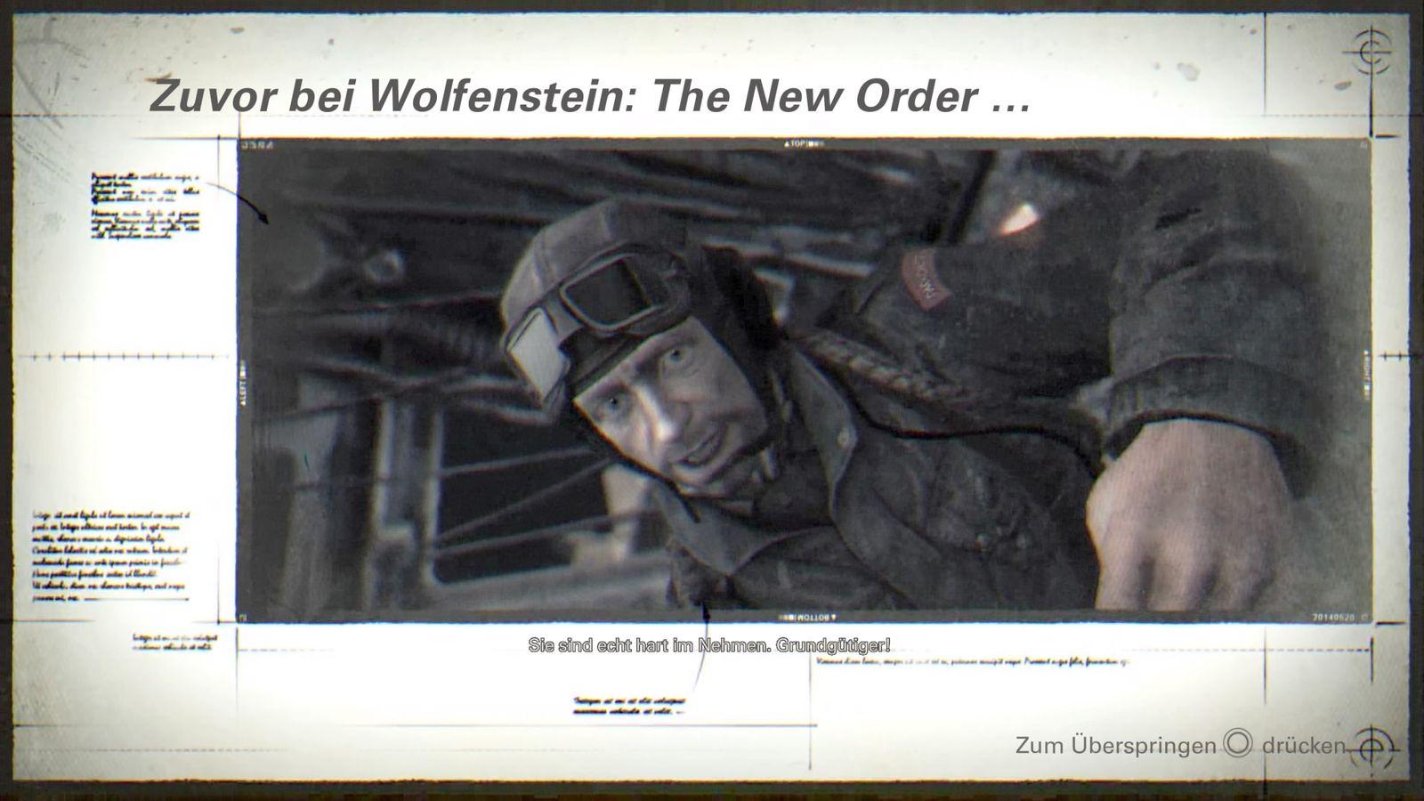 EINMALIGE VERWENDUNG Spiele und Schriftgroessen/ Wolfenstein 2/ Untertitel (2)