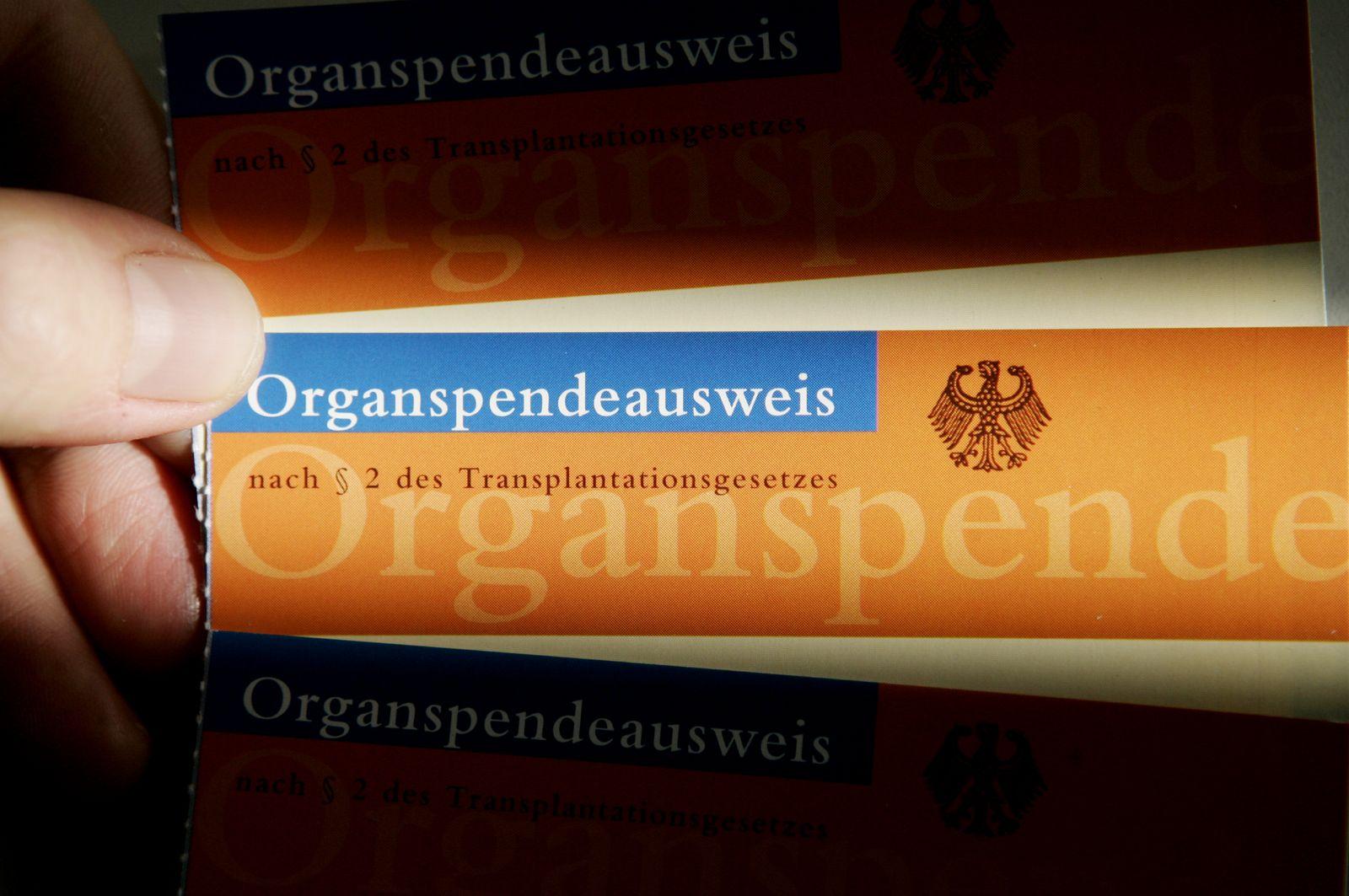Organspendeausweis / Organspende