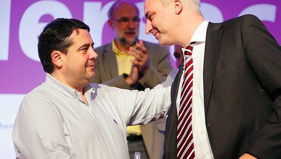 SPD-Politiker Gabriel, Duin 2008