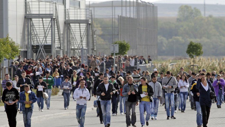 Nokia-Beschäftigte in Jucu nach Versammlung am Donnerstag: 2200 Jobs fallen weg