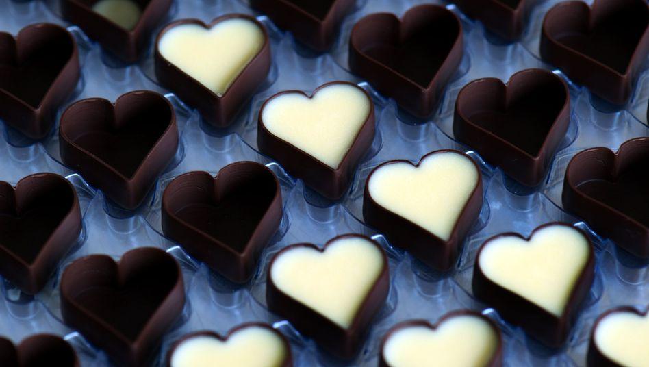Gefüllte Schoko-Pralinen: Nicht gut für die Taille, nicht schlecht fürs Herz