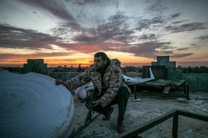 Kämpfer der international anerkannten Regierung in Tripolis (im Februar 2020)