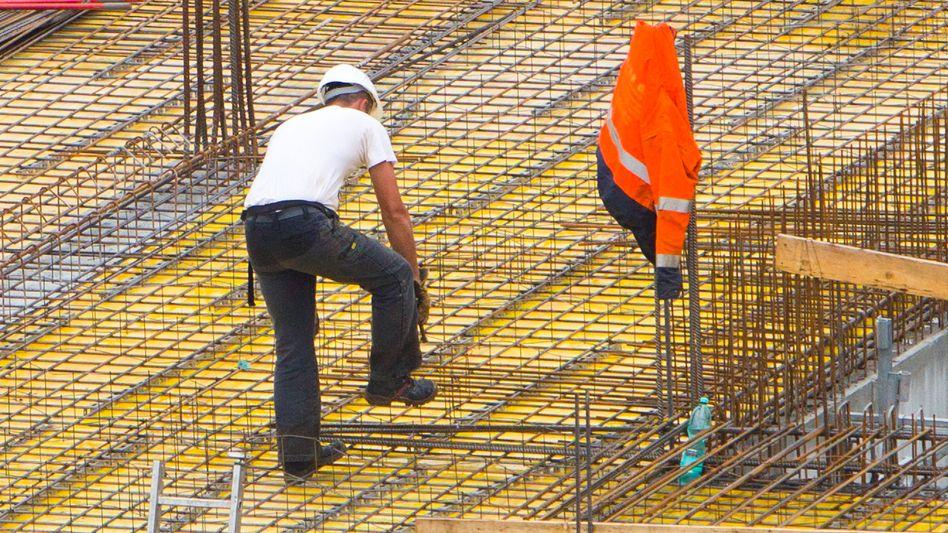 Bauarbeiter in Magdeburg