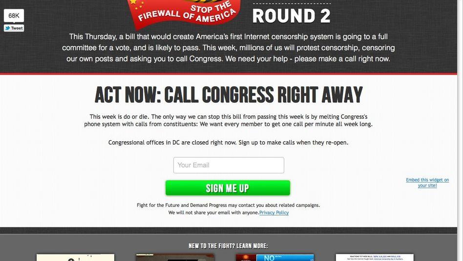 """Initiative """"Stop American Censorship"""": Angst um die Freiheit im Netz"""