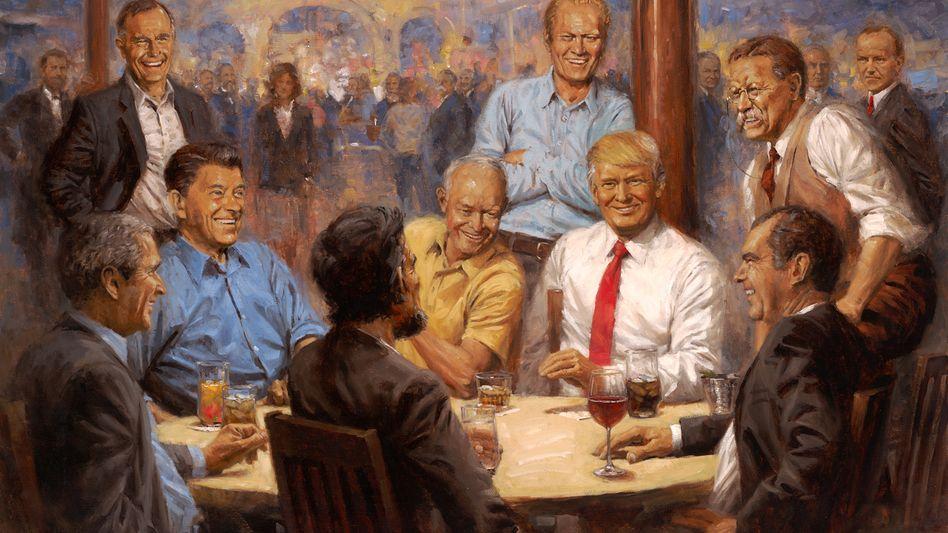 """Gemälde """"The Republican Club"""""""