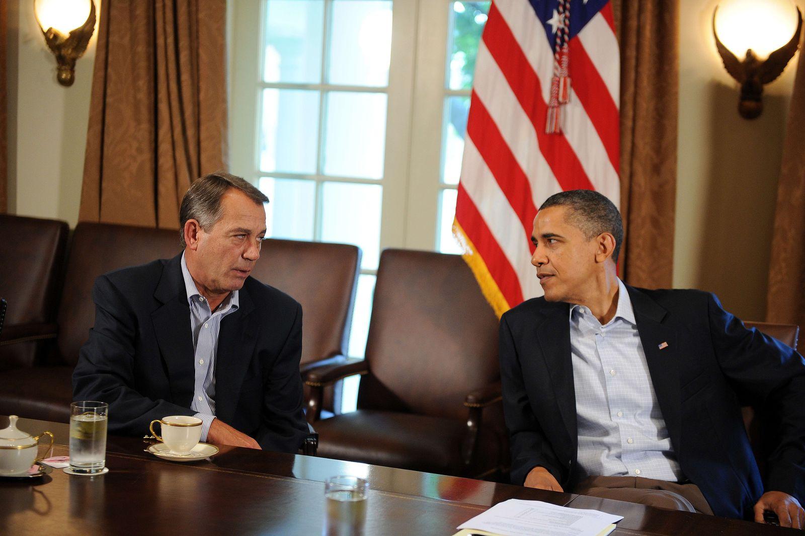 Obama Boehner Schuldengespräche