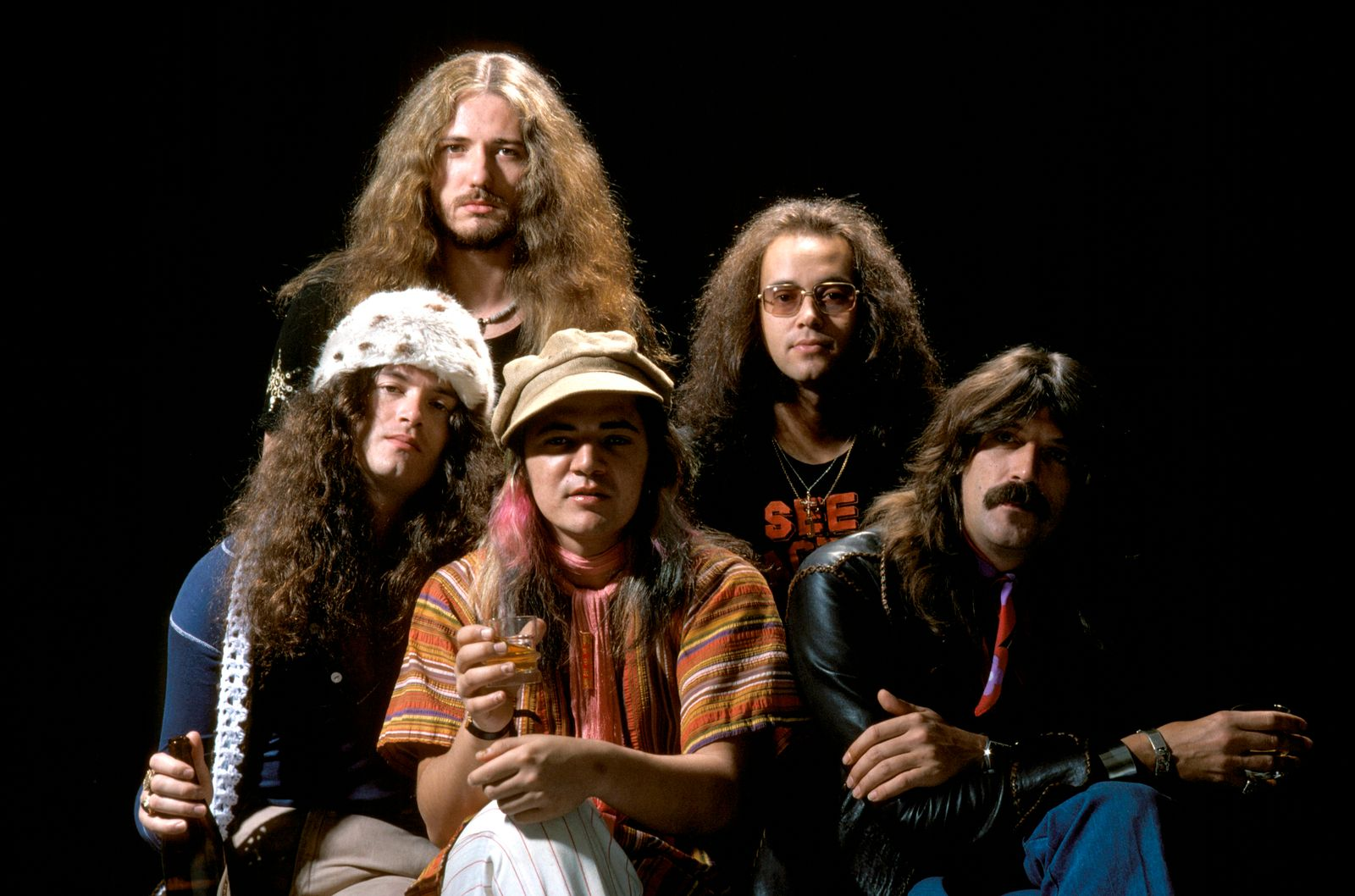 Photo of DEEP PURPLE and David COVERDALE and Tommy BOLIN and Jon LORD and Ian PAICE and Glenn HUGHES