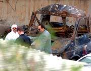 Anschlag auf Djerba: Ausgebrannter Lkw