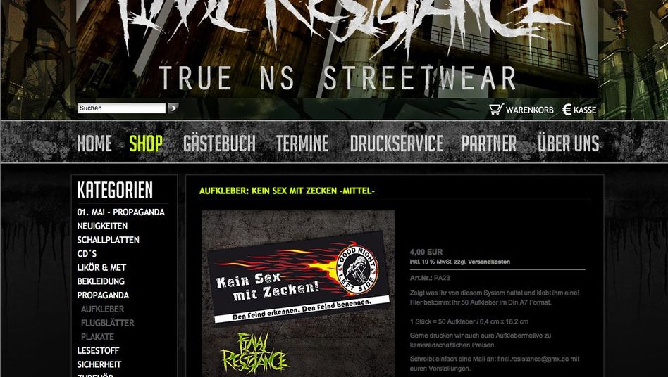 """Homepage von """"Final Resistance"""": Eindeutig rechts einzuordnen"""