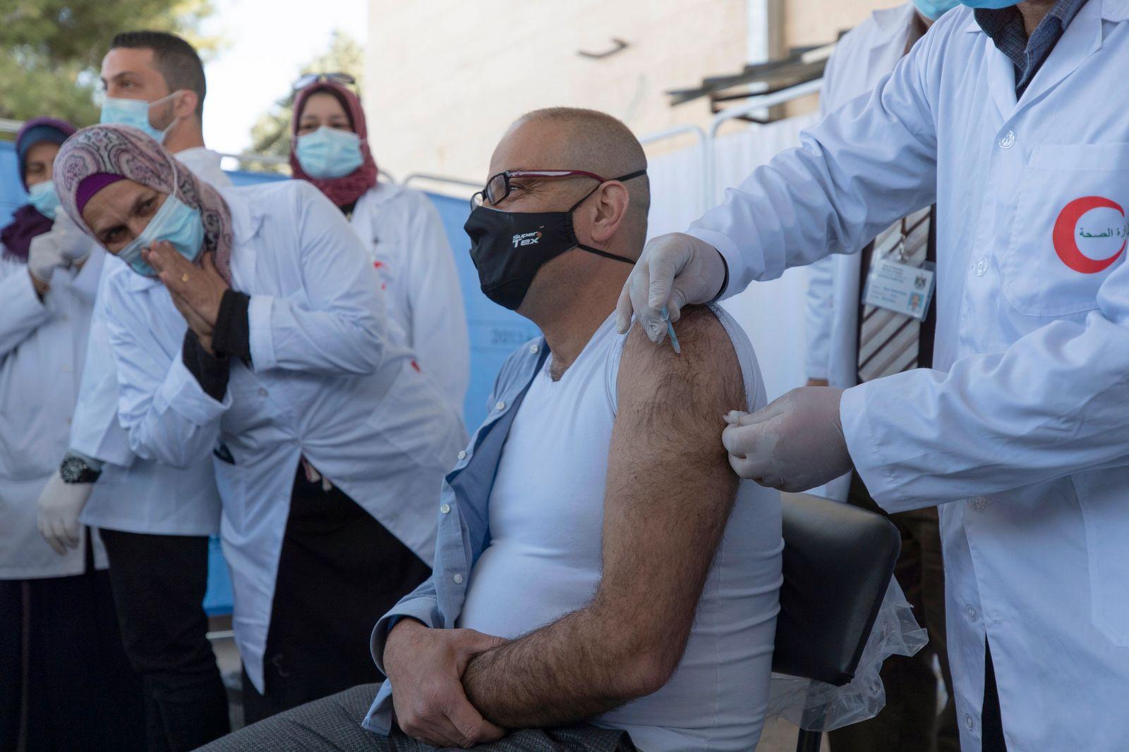 Virus Outbreak Palestinians
