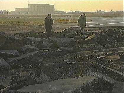 Gaza: Die Israelis zerstörten die Landebahn