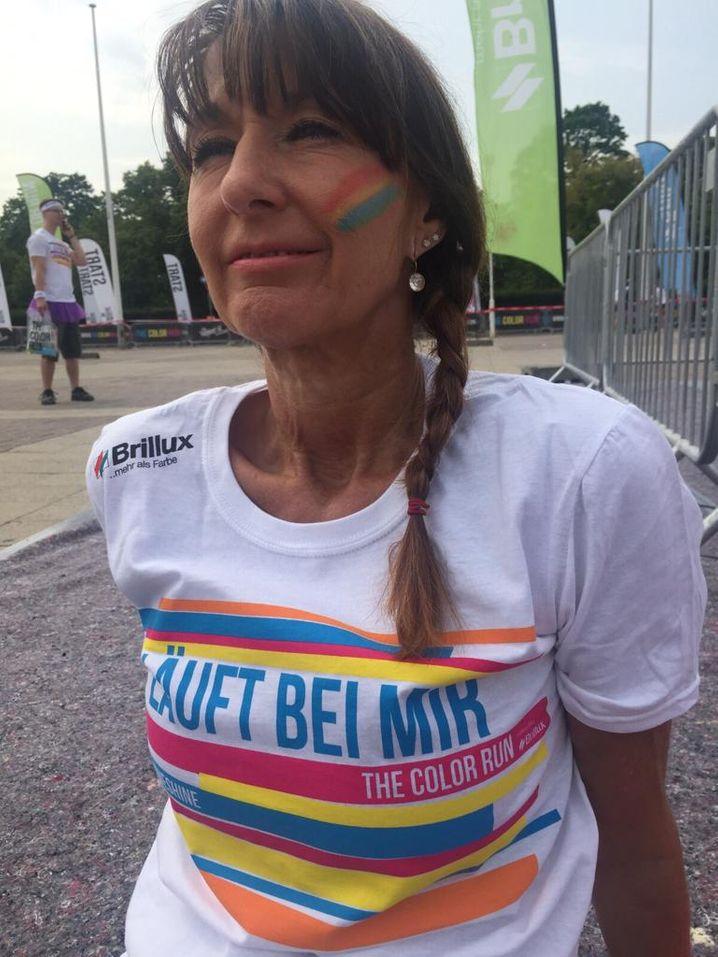 Martina Schenk, 57, Yoga-Lehrerin und Trainerin für Rehabilitationssport