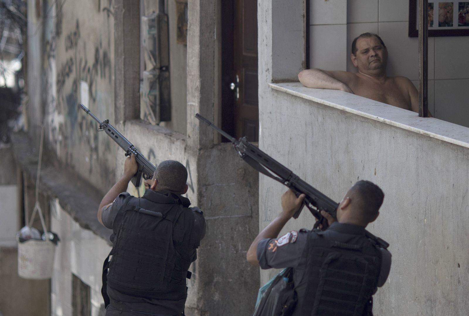 Schießerei in Favela Rocinha Rio de Janeiro