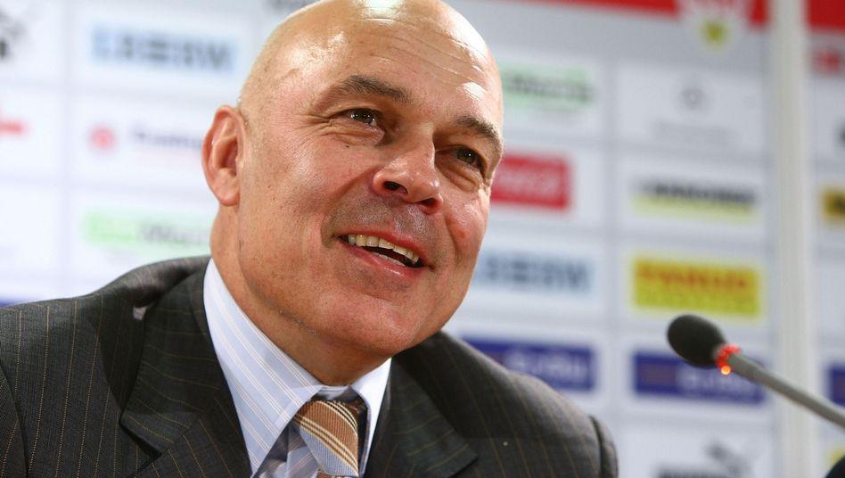 VfB-Trainer Gross: Manchmal kann er auch lachen
