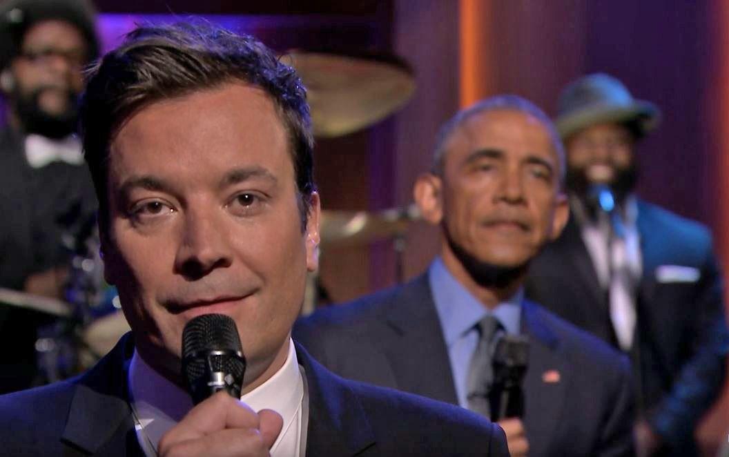 EINMALIGE VERWENDUNG Artikelbild Obama bei Jimmy Fallon