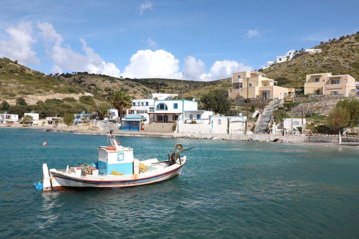 Hafen der Insel Agathonisi: Von hier aus wird am Samstagmorgen die Küstenwache alarmiert, nachdem die Überlebenden gefunden wurden. Zu spät, um die anderen Schiffbrüchigen noch zu retten.